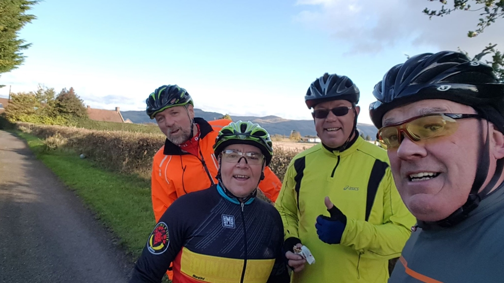 Glen Miller enjoying the Lanes of West Lothian on a group ride